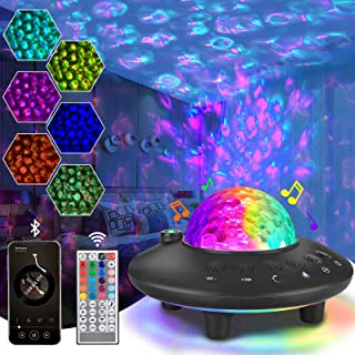 Star Projector Night Light, Galaxy Nebula Starry Projector with Remote Control Bluetooth Music Speaker, Sky Projector Ligh...