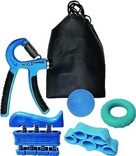 VLFit 5 Piezas Contando Fortalecedores de Agarre de Mano, Agarrador de Mano Ajustable, Estirador de Dedos, Ejercitador de Dedos, Anillo de Ejercicio y Antiestrés Bolas para Artritis Músico