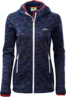 Kathmandu Aysen Womens Wind Resistant Stretch Hooded Fleece Inner Jacket Top Women's
