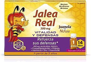 Juanola - Jalea Real para Niños. 14 Viales - Complemento alimenticio con jalea real fresca. fructooligosacáridos. própolis. extracto