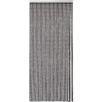Cortinas de Cadena de Aluminio, Aluminio Pantalla de decoración de la Puerta Anti Moscas/Insecto Cadena de partición de la habitación, 90 x 214,5 cm. (Negro): Amazon.es: Hogar