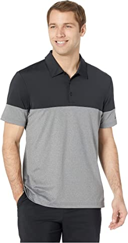 Ultimate 3-Stripes Heather Blocked Polo