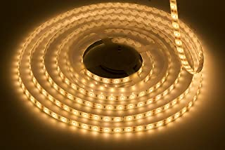 LEDMY Flexible LED Strip Light, DC12V Tape Lights, 2400K Strip Lights, 300 LEDs SMD2835 16.4ft/5m Light Strip,Non-Waterproof, 2400K Rope Lights for Home, Under Cabinet, Kitchen.