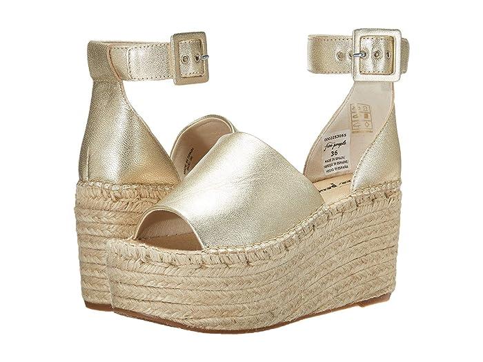 70s Shoes, Platforms, Boots, Heels Free People Coastal Platform Wedge Gold Womens Shoes $168.00 AT vintagedancer.com
