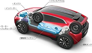 Mitsubishi XR-Phev Concept (2013) Car Art Poster Print on 10 mil Archival Satin Paper Red Rear Side Illustration Xray View 36