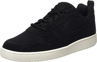 Nike Women's Court Borough Low Basketball Shoes,12,Black/Black/White