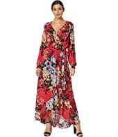 Tropical Floral Maxi with Ruffle Hem