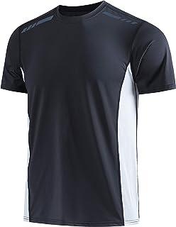 Men's Sports T-Shirt Stretch Tee Short Sleeve Raglan Sleeve Running Gym Bodybuilding Athletic Tee Shirts