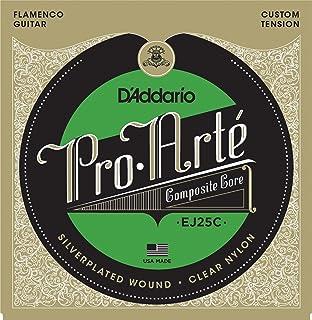 D'Addario EJ25C Pro-Arte, cuerdas para guitarra flamenca con entorchado de compuesto de nailon transparente