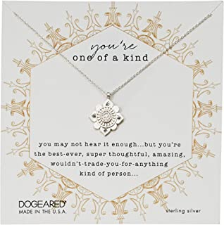 Dogeared Womens You're One of A Kind, Crystal Mandala Necklace