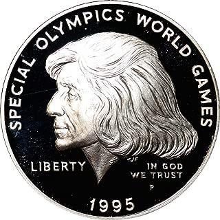 1995 P Special Olympics Commemorative Silver Dollar - $1 Gem Proof Deep Cameo DCAM Original Packaging with COA US Mint
