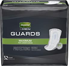 Depend Incontinence Guards for Men, 104 Count Total Each