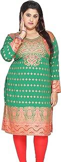 Indian Tunics Kurti Long Top Womens Plus Size Apparel