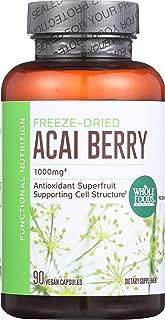 Whole Foods Market, Freeze Dried Acai Berry 1000mg, 90 ct