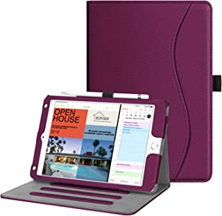 Fintie Case for iPad Mini 5th Gen 2019 / iPad Mini 4 - [Corner Protection] Multi-Angle Viewing Smart Folio Cover w/Pocket, Pencil Holder, Auto Wake/Sleep for New iPad Mini 5 / iPad Mini 4, Purple