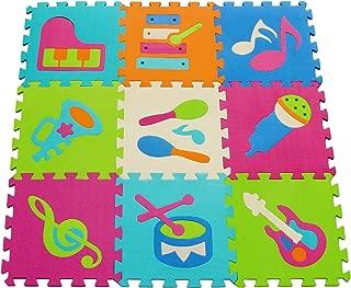 8 pcs Desmontables Manta de Puzzle Espuma Grueso,Alfombras del color Puro de Juegos para Bebe,Ni/ños en invierno Alfombra Puzzle Infantil 30 * 30 * 1 cm Cafe