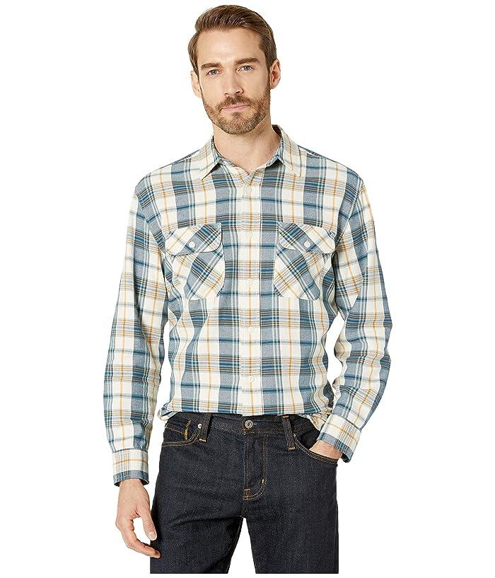 Vintage Mens Clothing | Retro Clothing for Men Pendleton Beach Shack Shirt Aqua BlueOrange Plaid Mens Clothing $40.28 AT vintagedancer.com