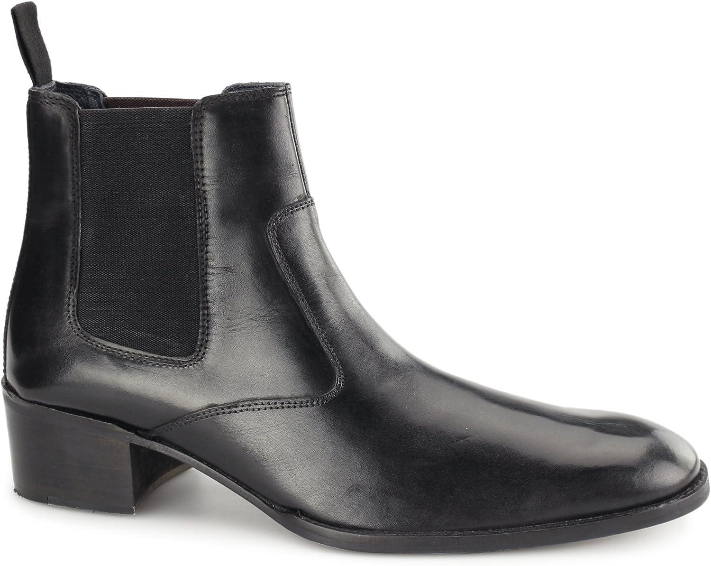 728ec99f33bdd Gucinari Lucca Mens Mens Mens Leather Chelsea Boots Black 669c71 ...