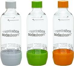 SodaStream Aktions-Set Pet-Flaschen 2+1, 3x 1 L PET-Flaschen aus bruchfestem kristallklarem PET, orange/grün/weiß