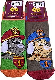 Candados Socks Milano calcetines antideslizantes niño/a 6 pares esponja de algodón ABS made in Europe del 23 al 38