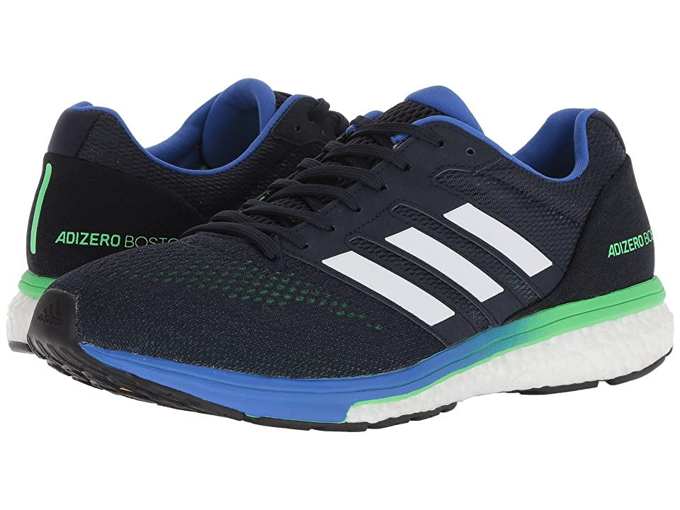 Image of adidas Running adiZero Boston 7 (Legend Ink/Shock Lime/Hi-Res Blue) Men's Shoes