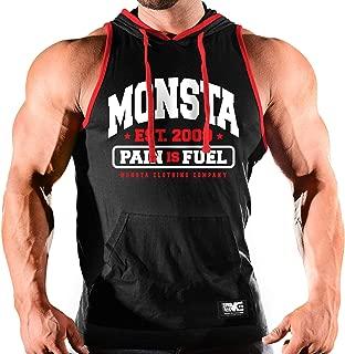 Monsta Clothing Co. Men's Bodybuilding Workout (Monsta-Est09) Hooded Tank Top