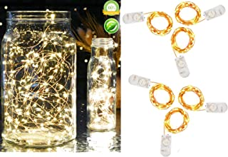 Pack of 6 Pcs Fairy Lights Battery Operated String Lights with 20 Micro LEDs 7.2ft Copper Wire LED Lights Starry String Lights for Christmas Party Centerpiece Decor