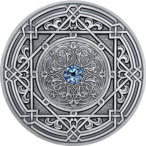 la mejor oferta de tienda online Power Coin Coin Coin Moresque Morisco Mandala Art 3 Oz Moneda plata 10  Fiji 2018  aquí tiene la última