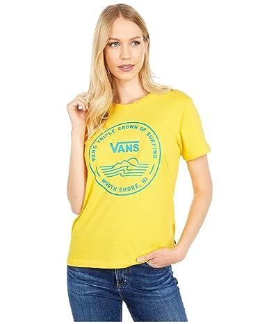 Vans 2020 VTCS Logo Crew Tee (Lemon Chrome) Women