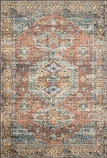 Loloi II Skye Collection Printed Distressed Vintage Area Rug, 1'-6