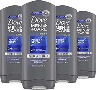 Dove Men+Care Body and Face Wash for hydrated skin Power & Renew Shower Gel with Micro Moisture technology 400 ml 4