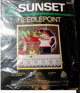 Sunset Designs Needlepoint STRAWBERRIES AND CREAM #5278