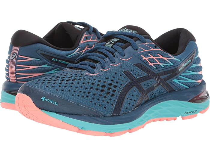 Asics Womens Gel-Cumulus 21 GORE-TEX Running Shoes Trainers Sneakers Blue