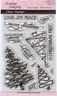 Stamp Simply Clear Stamps O Christmas Tree Christian Religious 4x6 Inch Sheet - 10 Pieces