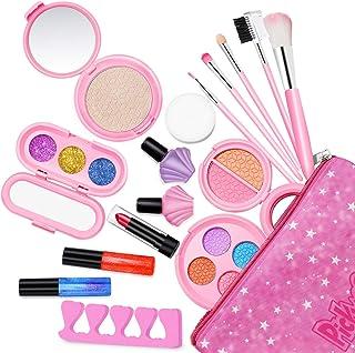 Maquillage Enfant Fille Bio Lavable - Palette Coffret Malette Maquillage Enfant RéAliste - Trousse Maquillage Enfant - Jou...
