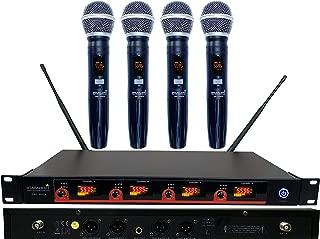 STARAUDIO Pro Wireless Microphone System 4 Channel UHF With Diversity 4CH Handheld Mics For DJ Stage Church,Karaoke KTV Church,Wedding Party,Club School Play,Speech Outdoor Indoor PA DJ Mic SMU4000A