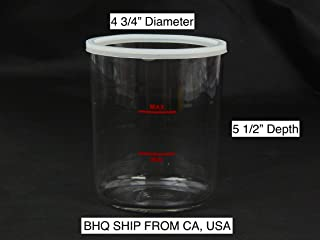 Facial Steamer Glass Jar with Gasket 4 1/2