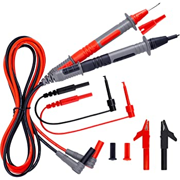 RED//Black Multimeter Test Lead Probe Wire Pen Cable With Alligator Clip 10A RP
