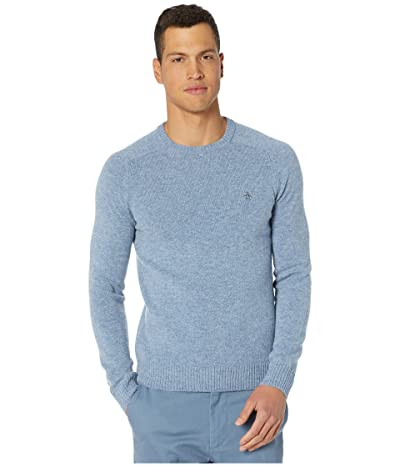 Original Penguin Lambswool Crew Neck Long Sleeve Sweater (Faded Denim) Men