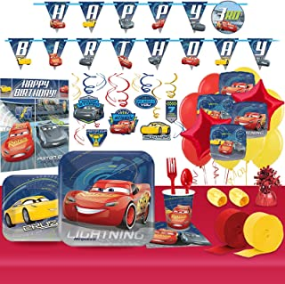 BirthdayExpress Disney Cars Party Supplies Ultimate Tableware Kit (for 8 Guests)