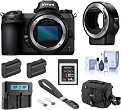 Nikon Z6 FX-Format Mirrorless Digital Camera Body, Complete Bundle with FTZ Mount Adapter, 64GB XQD Card, 2 Extra Battery,...