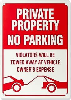 AmazonBasics No Parking Sign, Private Property, 14