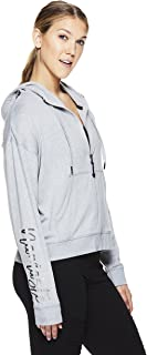 Gaiam Women's Zip Up Crop Hoodie - Hooded Activewear Workout & Yoga Sweater
