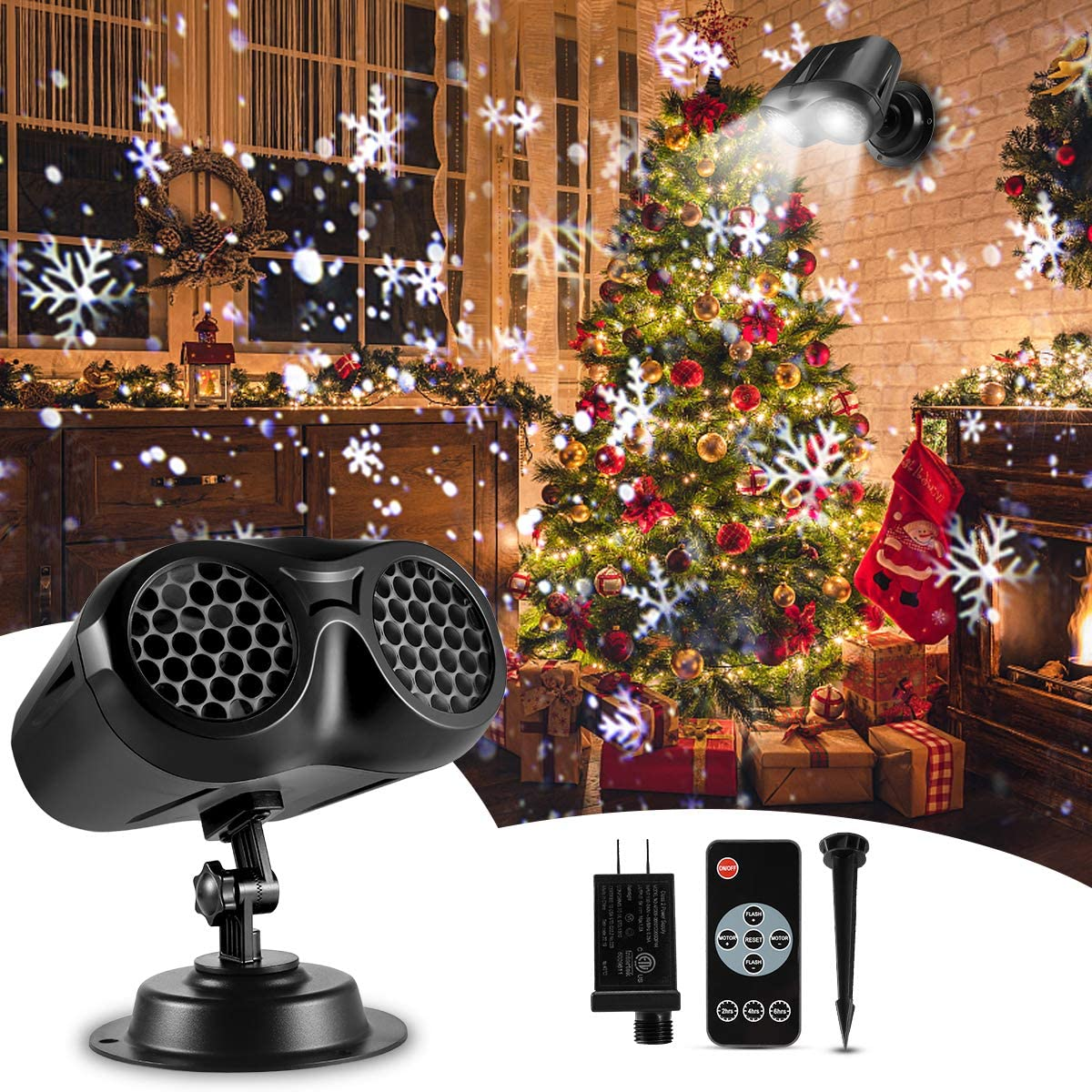 Christmas Projector Lights Outdoor Rotatin B-right Free shipping on posting reviews Light Double Max 89% OFF