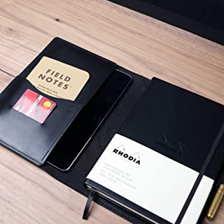 Leather Notebook Cover for A5 Notebooks/Rhodia/Hobonichi / Leuchtturm1917 / Clairefontaine/Bullet Journal/Handmade in the US/American Full Grain Leather