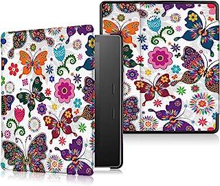 Capa para Kindle Oasis 2019-2021 (aparelho com temperatura de luz ajustável) - Borboletas Coloridas