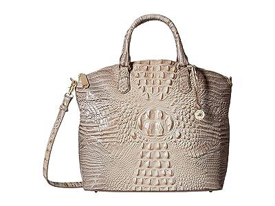 Brahmin Melbourne Large Duxbury Satchel (Harbor) Satchel Handbags