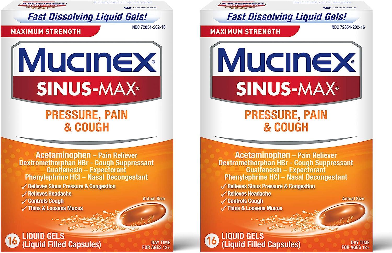 Mucinex Sinus-Max Max Strength Pressure Cough Liquid Pain Gel trust Arlington Mall