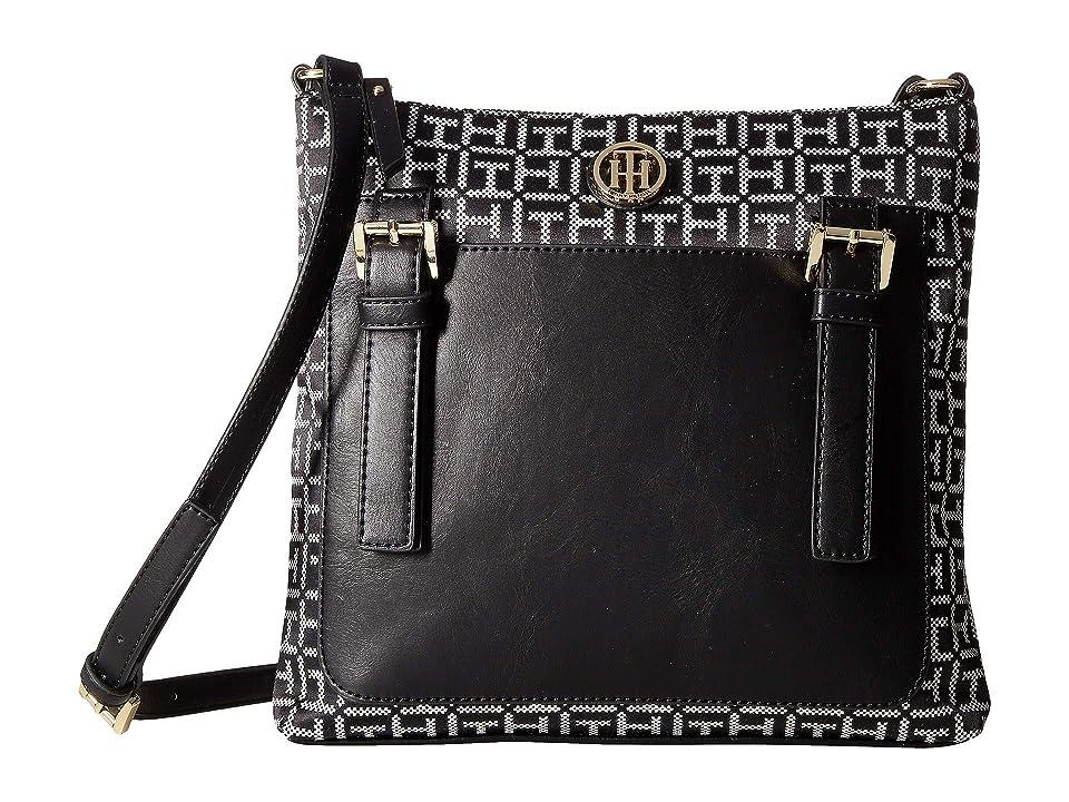 Tommy Hilfiger Imogen Crossbody (Black/White) Handbags