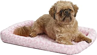 """Midwest Deluxe Bolster Pet Bed for Dogs & Cats; Pet Bed Measures 24L x 18W x 2.25H Inches & Fits Standard 24""""L Wire Dog Cr..."""